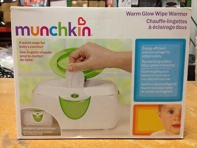 Munchkin Warm Glow Baby Wipe Warmer, Baby Wipes Warmer NEW IN OPEN BOX