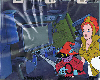 He-Man MOTU Original Production Animation Cel & Hand Painted Background #A8635