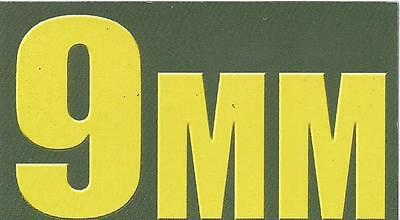 "Vinyl Ammo Can Magnet label ""9MM"" Bold"