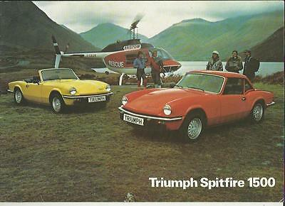 Triumph Spitfire 1500 Sales Brochure September 1978 For 1979 Model Year