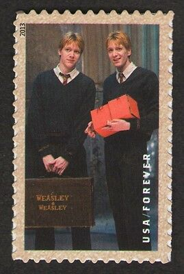 "US. 4839. Fred and George Weasley. Booklet ""Harry Potter"" Single. 2013. MNH"