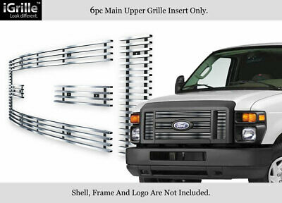 For 2008-2013 Ford Econoline Van/E-Series Stainless Steel Billet Grille