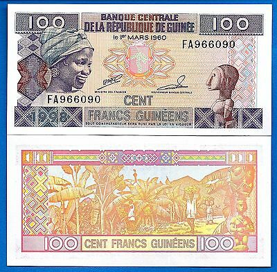 Guinea P-35a 100 Francs Year 1998 Uncirculated Banknote