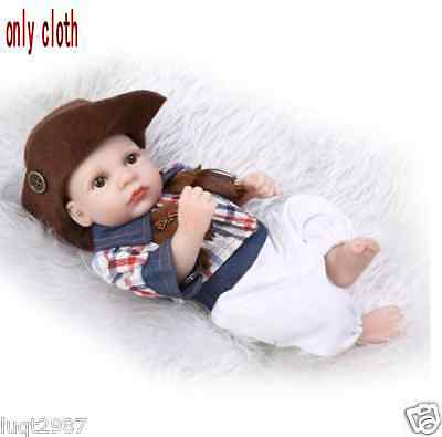 "10-11""Realistic Reality Ethnic Boy Reborn Doll Clothes Dress Up Kit With Hat"