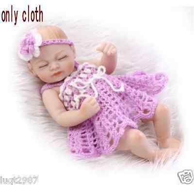 """HOT 10-11""""Reborn Doll Clothes Dress Hat Handmade Gift Kit With Gift"""