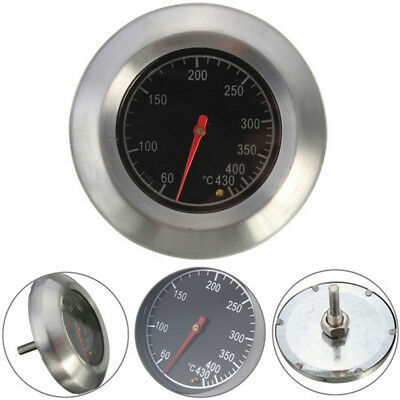Stainless Steel BBQ Grill Oven Bimetal Dial Thermometer Gauge Useful Tool SN