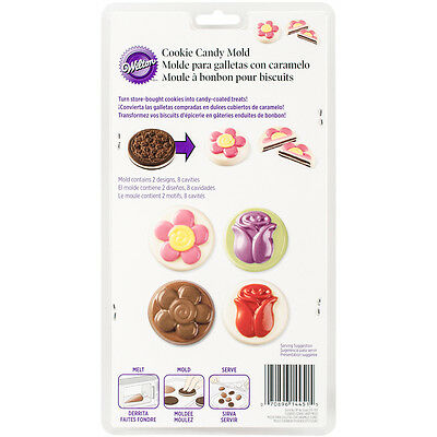 """Cookie & Candy Mold-Flowers 8 Cavity (2 Designs), Set Of 6"""