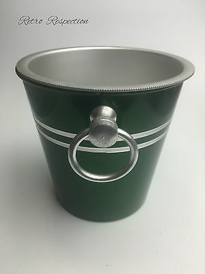 VINTAGE Anodised Aluminium Ice Bucket - Small Green
