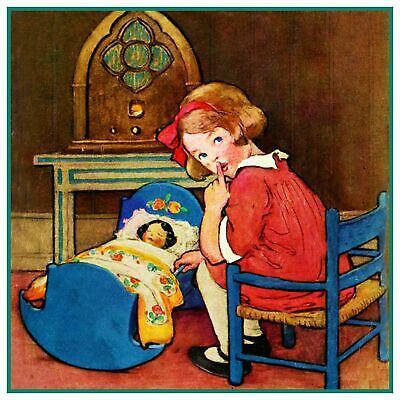 Jessie Willcox Smith Young Fashionista Paper Dolls Counted Cross Stitch Pattern