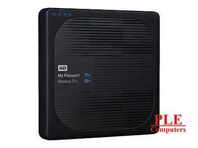 WD My Passport Wireless Pro 3TB Black Portable HDD[WDBSMT0030BBK]