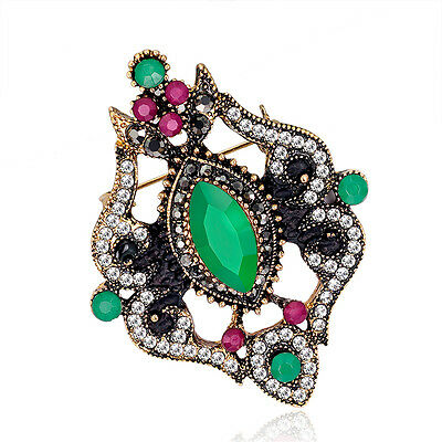 Retro Style Selectable Lady Wedding Party Jewelry Gift Rhinestone Brooch Pin