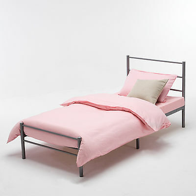 3FT Single Metal Bed Frame Sturdy for Adult Children Single Bed Silver Bedstead