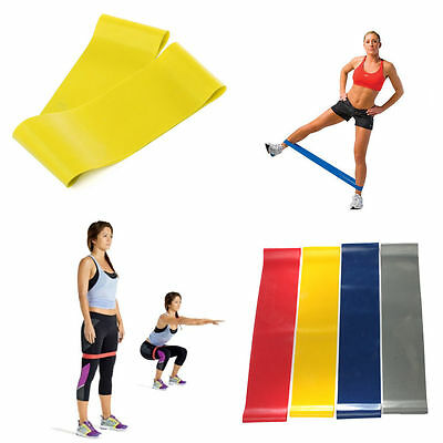 Resistance Loop Band Exercise Workout Strength Weight Fitness Yoga Sport 5 types