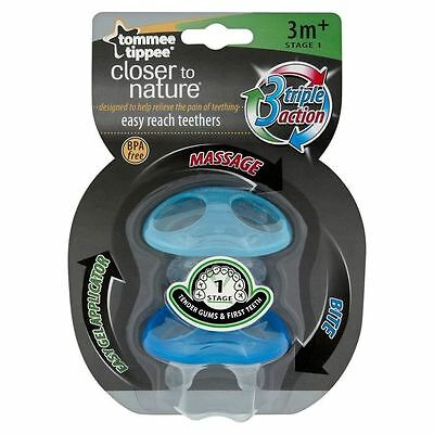 Tommee Tippee Closer To Nature Stage 1 Teether Blue