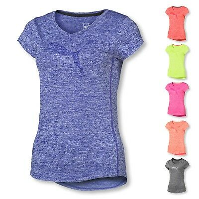 PUMA Damen T-Shirt Heather Cat Tee Performance Shirt Trainingsshirt Farbwahl