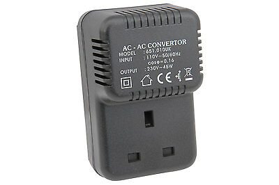 USA to UK 110V to 230V Step-Up Voltage Converter  transformer step up ac mains