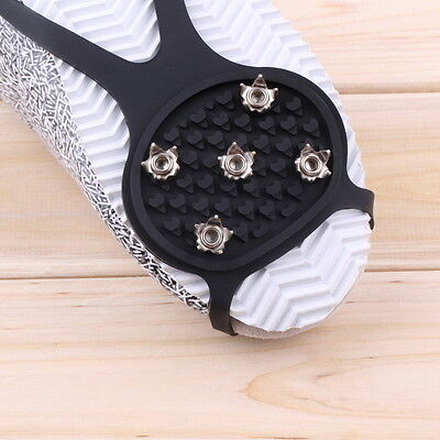 Ice Snow Ghat Non-Slip Spikes Shoes Boots Grippers Crampon Walk Cleats New BX