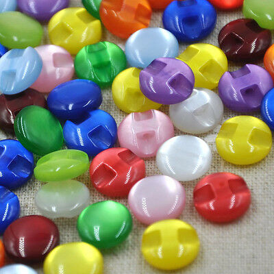 100pcs New Cat's Eye button craft/sewing/baby lot mix PT82