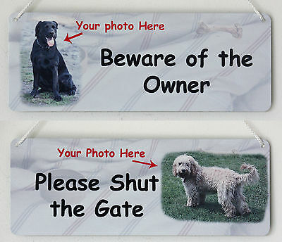 Personalised Metal Dog Signs Please Shut the Gate and Beware of the Owner