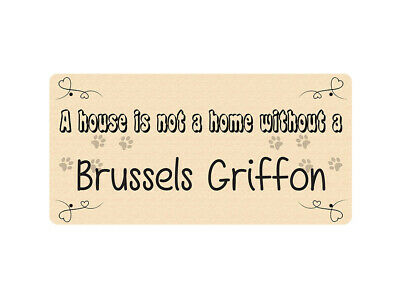 WP_PET_056 A house is not a home without a Brussels Griffon - Dog Breed Metal Wa