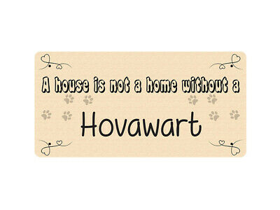 WP_PET_099 A house is not a home without a Hovawart - Dog Breed Metal Wall Plate