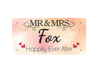 WP_VAL_356 MR & MRS Fox - Happily Ever After - Metal Wall Plate