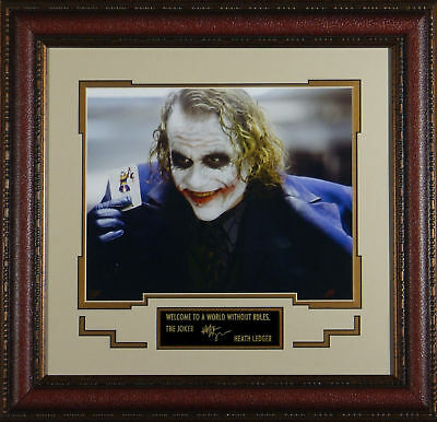 HEATH LEDGER as The Joker Framed Laser RP Signed Photo - Dark Knight