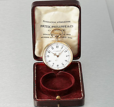 Rare Patek Philippe & Cie. 18k Gold Indirect sweep second Red minute 1899 Box