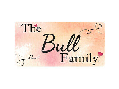 WP_FAM_170 The Bull Family - Metal Wall Plate