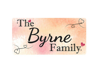 WP_FAM_185 The Byrne Family - Metal Wall Plate