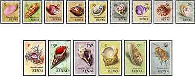 Timbres Coquillages Kenya 34/48 ** lot 15157