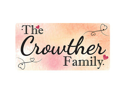 WP_FAM_260 The Crowther Family - Metal Wall Plate