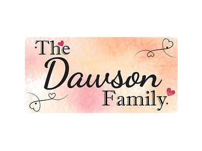 WP_FAM_282 The Dawson Family - Metal Wall Plate