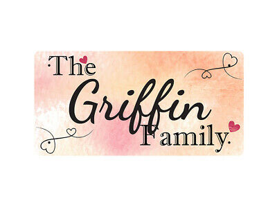 WP_FAM_404 The Griffin Family - Metal Wall Plate