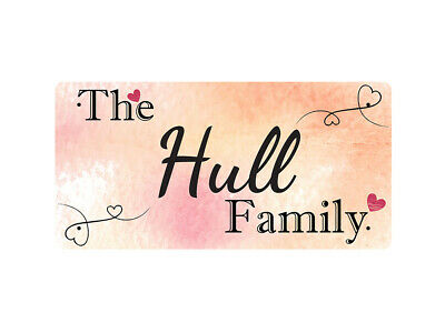 WP_FAM_490 The Hull Family - Metal Wall Plate