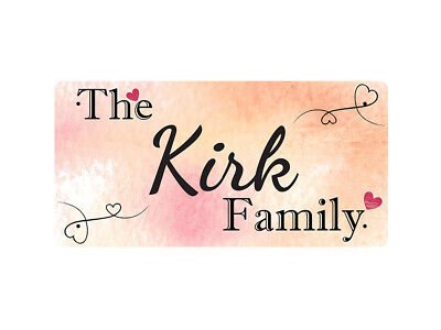 WP_FAM_540 The Kirk Family - Metal Wall Plate