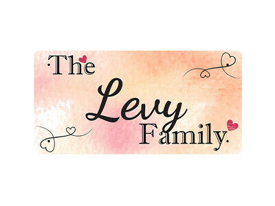WP_FAM_566 The Levy Family - Metal Wall Plate