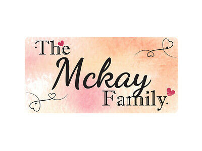 WP_FAM_637 The Mckay Family - Metal Wall Plate