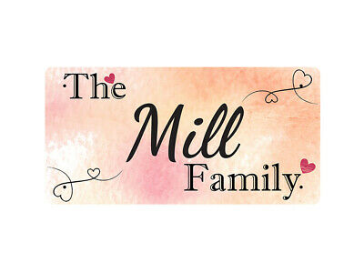 WP_FAM_662 The Mill Family - Metal Wall Plate