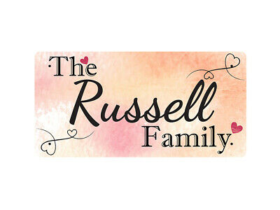 WP_FAM_817 The Russell Family - Metal Wall Plate