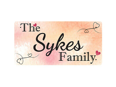 WP_FAM_898 The Sykes Family - Metal Wall Plate