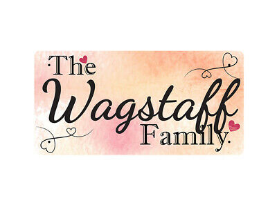 WP_FAM_927 The Wagstaff Family - Metal Wall Plate