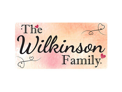 WP_FAM_982 The Wilkinson Family - Metal Wall Plate