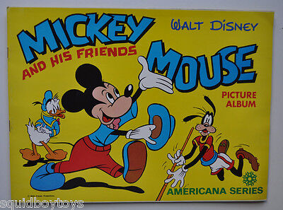 lot of 24 vintage MICKEY MOUSE And FRIENDS Americana STICKER ALBUM 1970s Disney