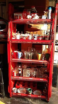 Coca Cola Coke Shelves Metal Display Rack With Collectibles