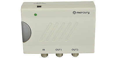 2-Way TV Distribution Amplifier with DC Pass   television amp digital DAB