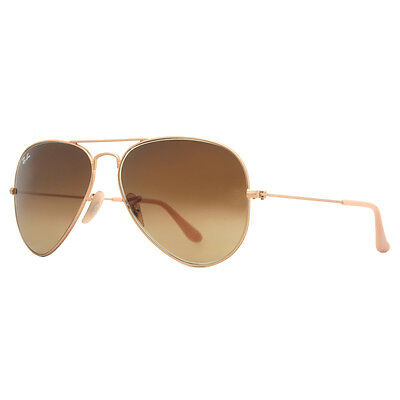 Ray Ban RB 3025 112/85 Gold Brown Gradient Aviator Sunglasses