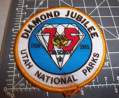 Diamond Jubilee Utah national parks Embroidered Patch , great collectible, new