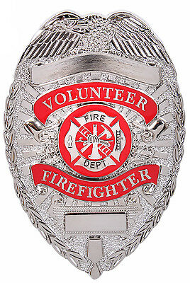 badge silver fire fighter fire dept department zinc alloy rothco 1928