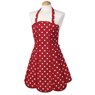 ICTC Apron Red And White Spot